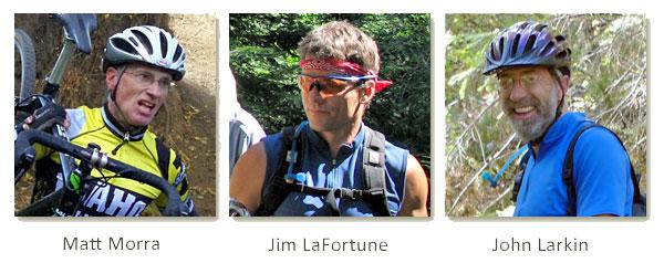Matt Mora, Jim LaFortune and John Larkin, MAMBA's Founders